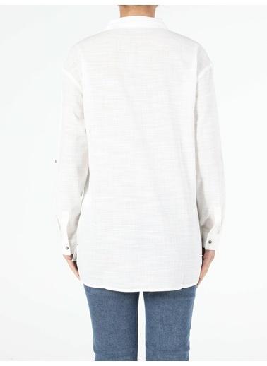 Colin's Kadın Bluz U.Kol Beyaz